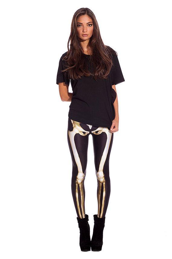 Hey, I found this really awesome Etsy listing at https://www.etsy.com/listing/183524582/designer-skeleton-leggings-xssml-tight