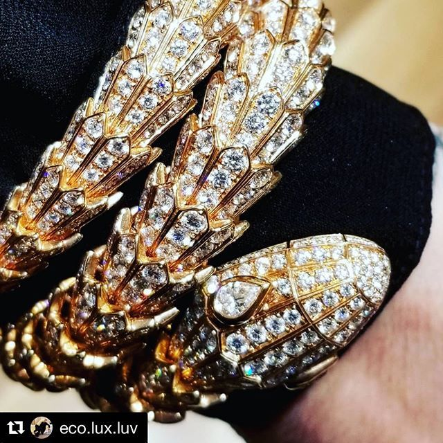 Bulgari Opens 1st Vancouver Boutique [Photos]  Its the second Canadian location for the Italian luxury jewellery brand designed by renowned architect Peter Marino.  For the full article visit our  in bio. ... : Helen Siwak : Photo reposted from @eco.lux.luv . .  @styledlegally @cfpacificcentre @holtrenfrew @bulgariofficial  #Repost from eco.lux.luv  Always attracted to the shiny and complicated!  This #Bulgari signature #Serpenti bracelet cozied up to me and who could say no to a seductive…