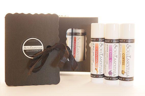 Stocking Stuffer Gift Book Box Organic Lip by SoulEssentialsSkin