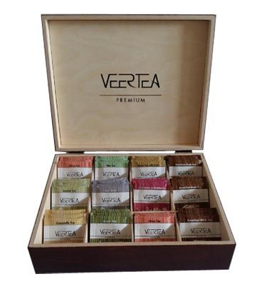 Wooden tea presenter for Veertea