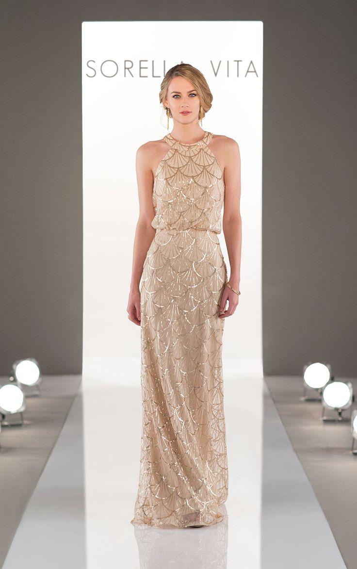 Lovely Modern Sequin Bridesmaid Dress