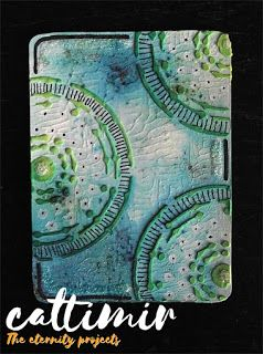 Cattimir - The eternity projects: #52cafecards, #MaremiWhispersBoard, mixed media