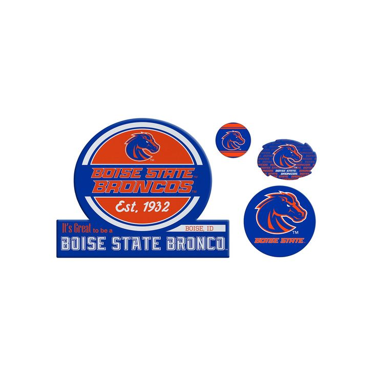 Boise State Broncos Game Day 4-Piece Magnet Set, Multicolor