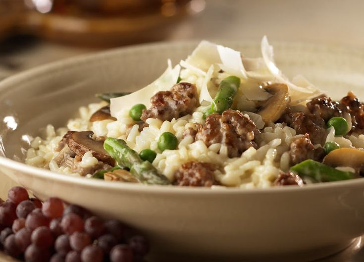 Johnsonville Sausage & Vegetable Risotto | sausages | Pinterest