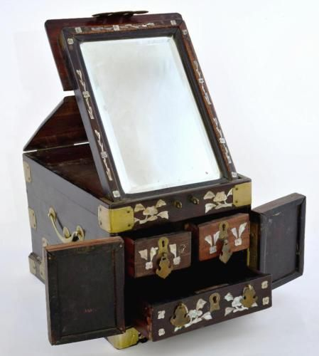 Mother Of Pearl Inlay Wooden Mini Folding Screen Asian: 23 Best Chinese Mirror Boxes Images On Pinterest