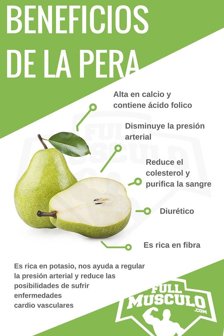 Infografia de los beneficios y propiedades de la pera. #Infografia #Dieta…