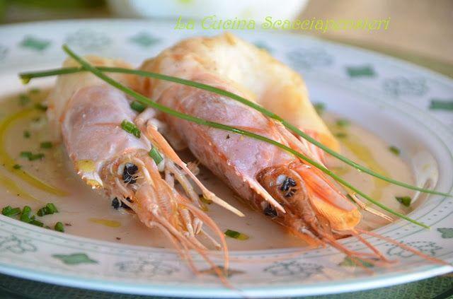Si parte....Gamberoni in crosta di pasta fillo su crema di fagioli Cannellini | Cucina Scacciapensieri