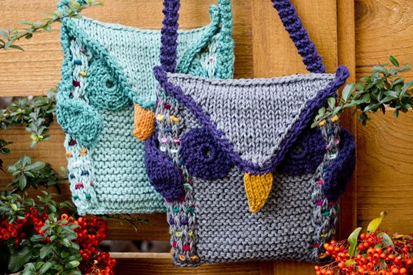 Knitting Pattern For Book Bag : 1000+ images about kraftling knit & crochet patterns, and occasionally ot...