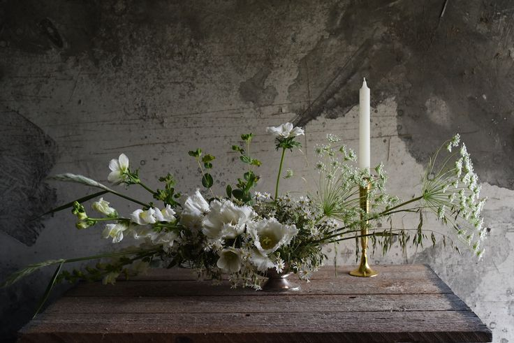 September flowers, spring, white, queen anne's lace, fringed tulips, grasses, asters, table flowers, centrepiece