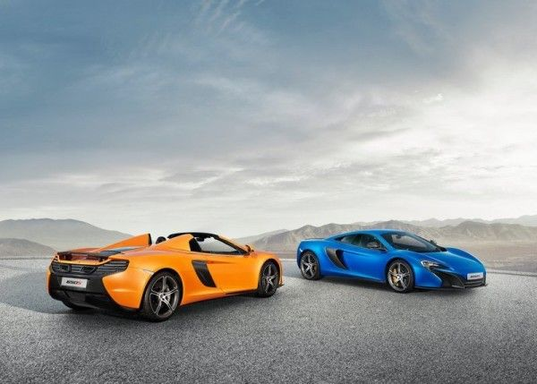 2015 McLaren 650S Spider yellow and blue color option 600x429 2015 McLaren 650S Spider Review Details