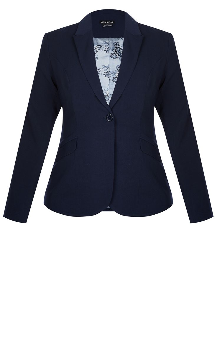 Paired with your favourite jeans for casual dressing, or elevated with a pencil skirt for something more corporate, the Vintage Sailor Jacket is super versatile.  Key Features Include: - V neckline - Classic jacket collar and lapel - Full length sleeves - Single button closure - Functional front flap pockets - Back split for for and movement - Contrast floral satin lining