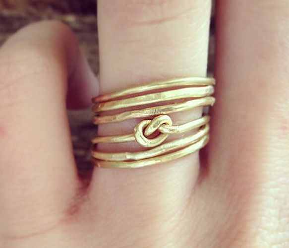 Six Stacking #Knot #Rings
