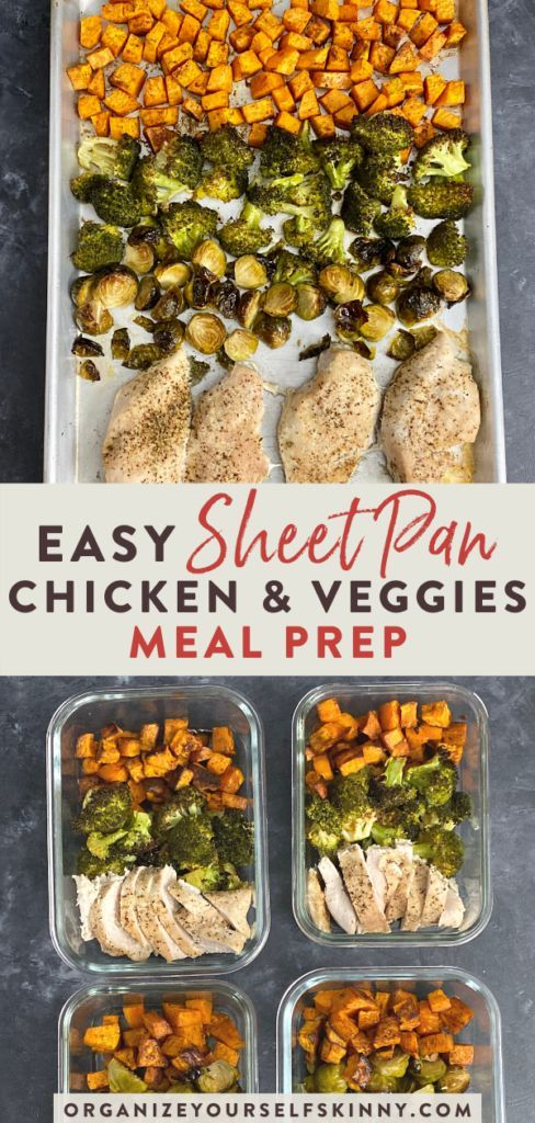 Sheet Pan Chicken And Vegetables Meal Prep Recipe Easy Healthy