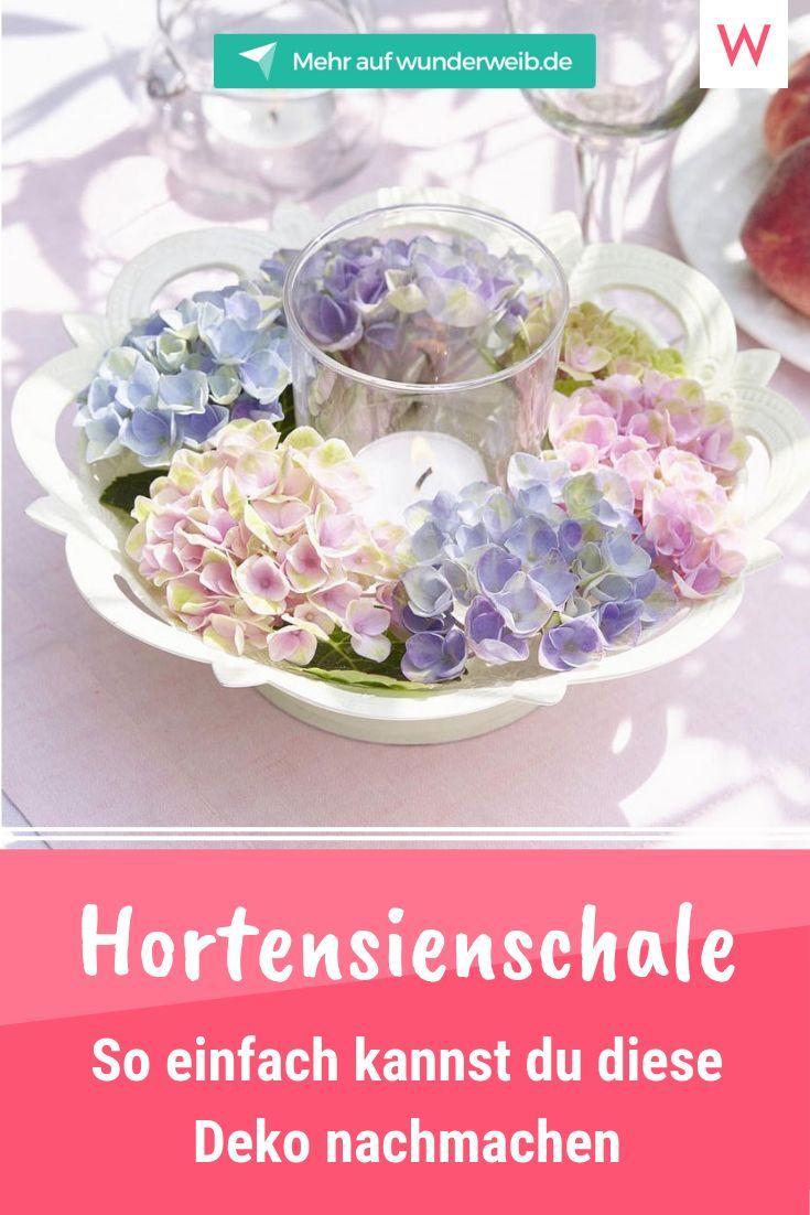 5 romantische Deko-Ideen mit Hortensien