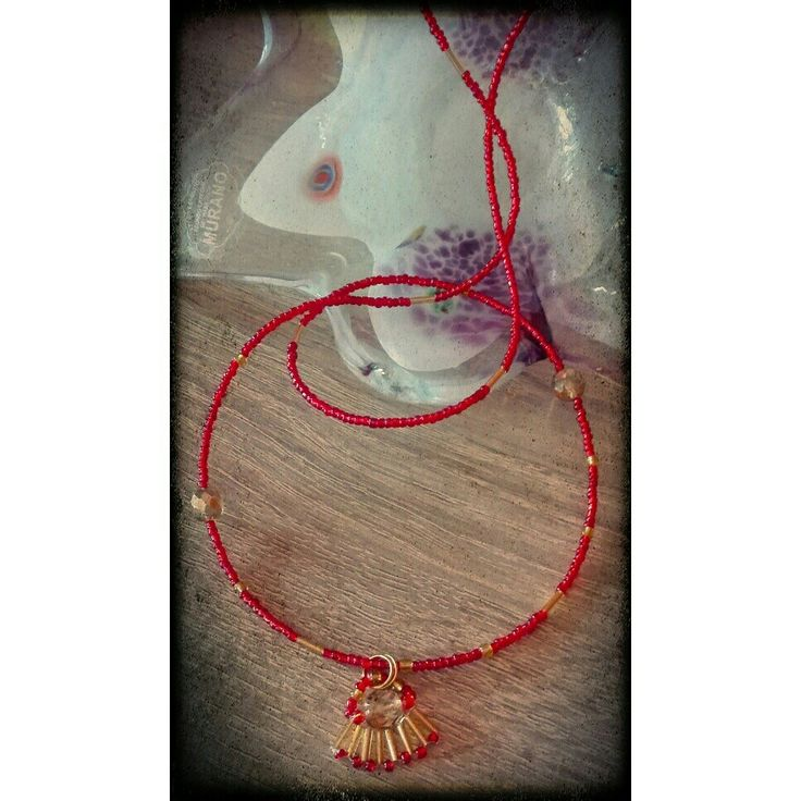 #ArtsBerry #homemade #diy #hobby #beads #necklace #collana #perline #red #gold #rosso #oro