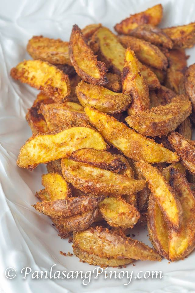 Crispy Baked Yukon Gold Potato Wedges - Panlasang Pinoy