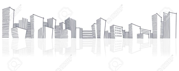 Lo Sketch Di Una Skyline Della Città Clipart Royalty-free, Vettori E Illustrator Stock. Pic 9099428.