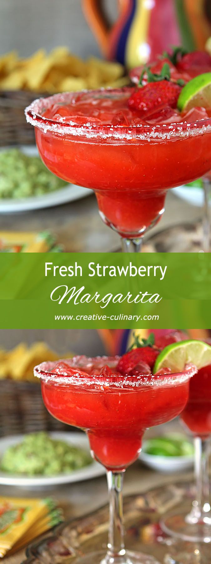 Try this Fresh Strawberry Margarita on the rocks with fresh berries and juices. It's the best...frozen will never measure up again! via @creativculinary