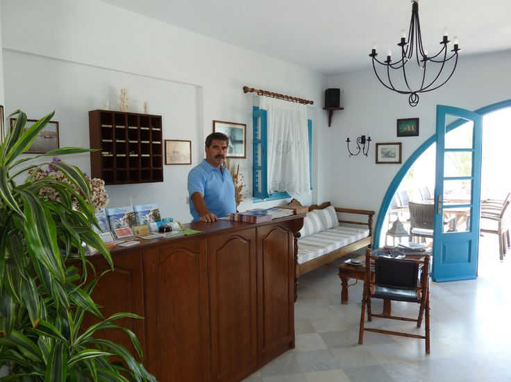 Hotel lobby of Villa Naxia, Naxos, Greece