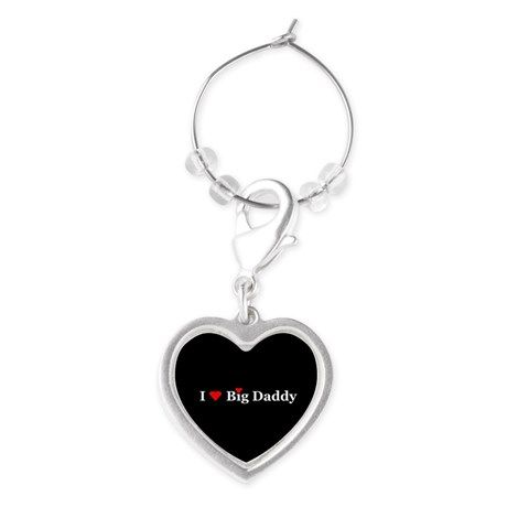 I Heart Big Daddy Wine Charms  by Khoncepts  #IloveBigDaddy  #hearts