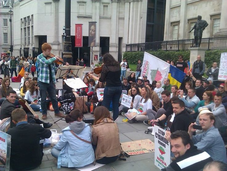 Concert in London- for the Rosia Montana protest