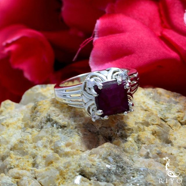 Sterling Silver Red Indianruby Real Gemstones Ring Patricks Day Stacking Rings wholesales Jewelry Most Selling Items Gift for st Real Gemstones Round Faceted Indianruby Rings