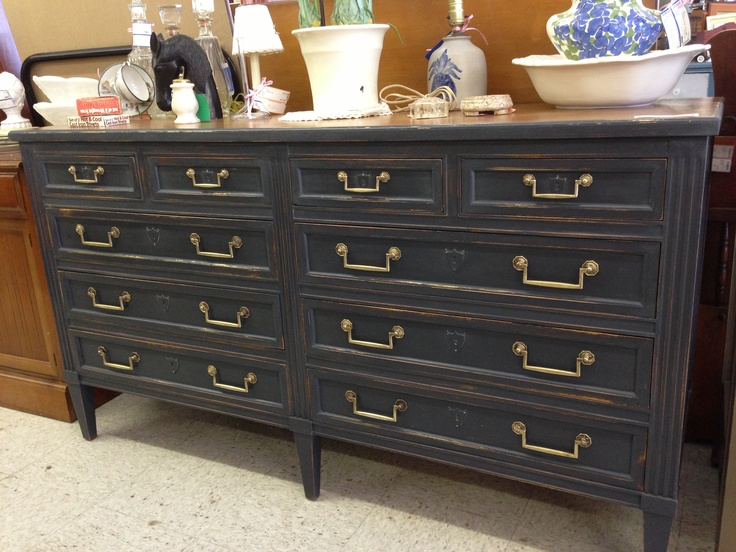 Gorgeous Dresser Painted In Graphite Chalk Paint® Decorative Paint By Annie  Sloan. Work Done