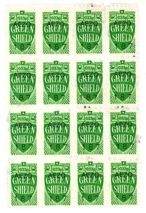 Green Shield stamps. My mum bought these in the early 70s, to 'save up' to buy things for our home. I remember seeing books and books of them.