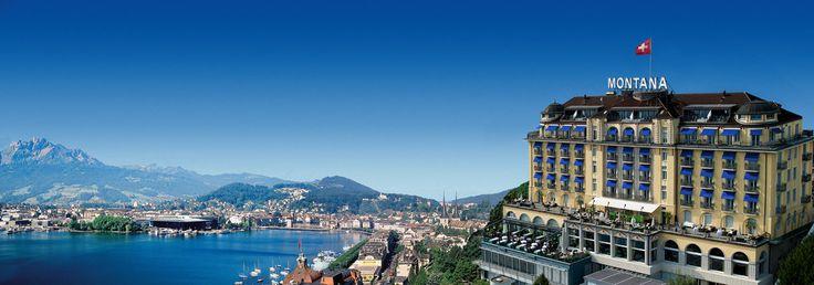 Art Deco Hotel Montana Luzern in der Schweiz