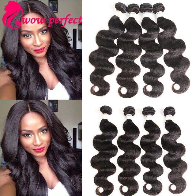 Brazilian Body Wave 4 Bundles Brazilian Hair Weave Bundles 7A Mink Brazilian Virgin Hair Body Wave Cheap Human Hair Extensions