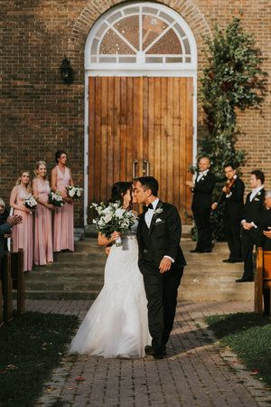 Bride and groom leaving ceremony; PLANNER Toast Events; PHOTOGRAPHY Joel + Justyna Bedford