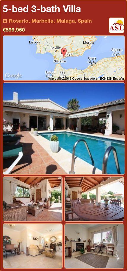 5-bed 3-bath Villa in El Rosario, Marbella, Malaga, Spain ►€599,950 #PropertyForSaleInSpain