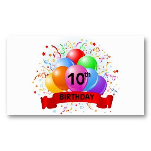 10th birthday logo 10th birthday banner balloons