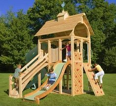 build your own playhouse with these free plans here httptinyurl