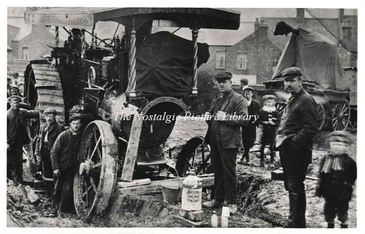 """TR 137 BURRELL STEAM TRACTION ENGINE """" VICTORIA"""" AT NUNEATON WITH BOILER MISHAP in Collectables, Postcards, Transportation 