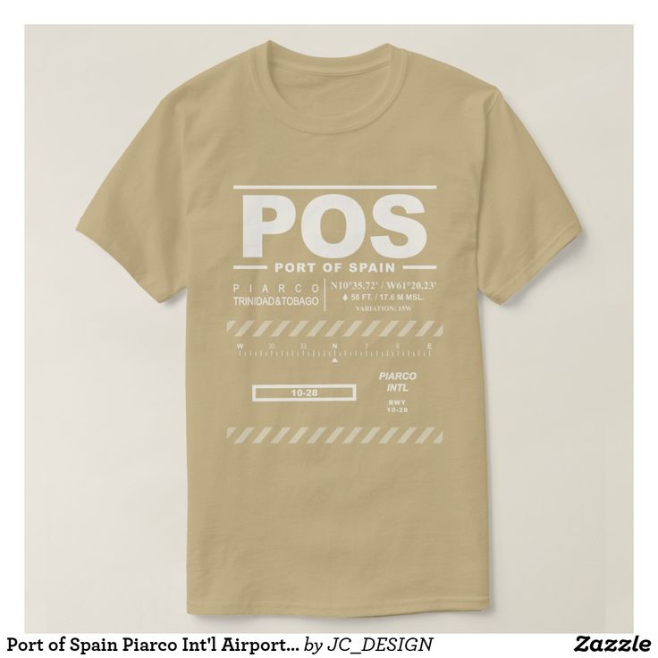 Port of Spain Piarco International Airport (POS) T-Shirt: Design features air navigation information for Port of Spain Piarco International Airport. Great gift for pilots, aviation enthusiasts and world travelers.   #trinidadandtobago #trinidad #tobago #portofspain #piarco  #piarcoaviation #piarcointernational #piarcointernationalairport #ttpp #posairport #caribbean #westindies #avgeek #airport #airportcode #airportcodes #airportcodeshirt #pilot #travel #aviation #planespotting…