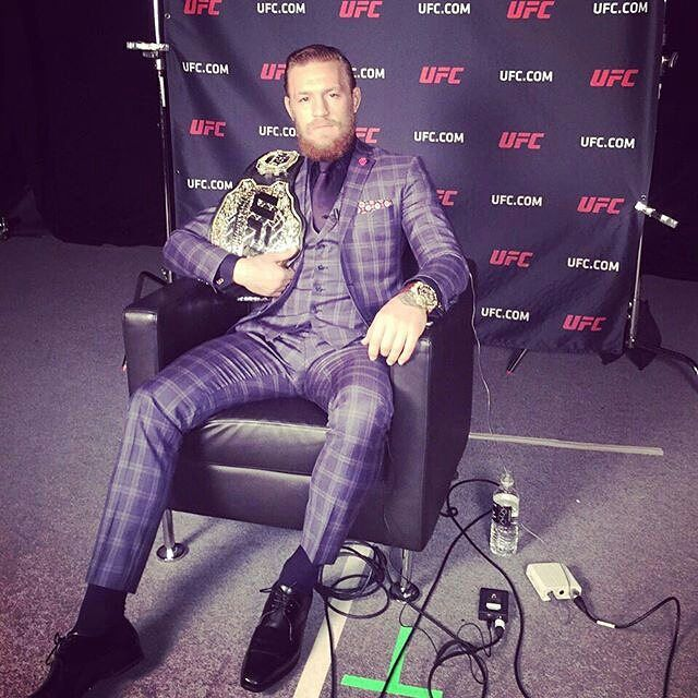 """36 Likes, 1 Comments - Conor McGregor (@mcgregorufc) on Instagram: """"At zuffa headquarters #conormcgregor #champion #zuffa #belt #gold #luxe #sit #interview #costume…"""""""