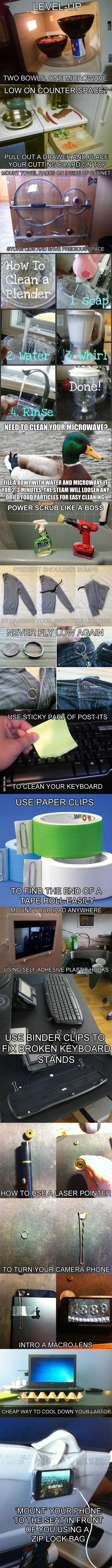 15 Clever Life Hacks to Simplify Your World--worth it for the second one alone!