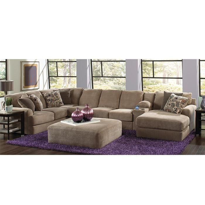 Flex room malibu 3 piece sectional in taupe nebraska for Brighton taupe 3 piece chaise and sofa set