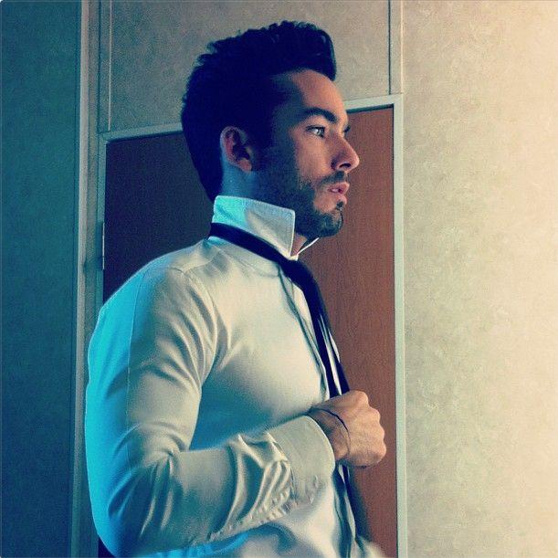 Aaron Diaz.....crisp white shirt