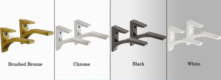 You can find the perfect metal shelf brackets for the Cardinal Floating Glass Shelf at Glass Tops Direct. Each set of 2 Cardinal Shelf Brackets is available in either white, black or chrome.