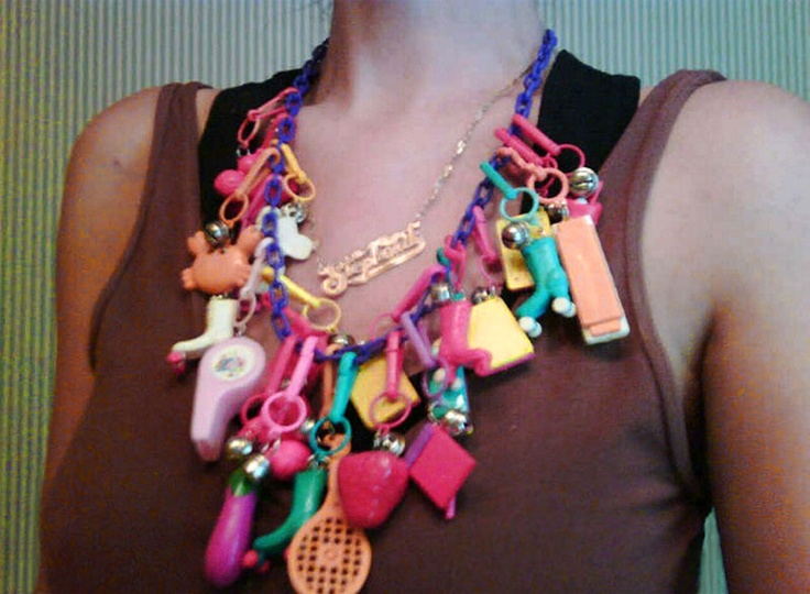 The plastic charm necklaces!!! These were AWESOME!!