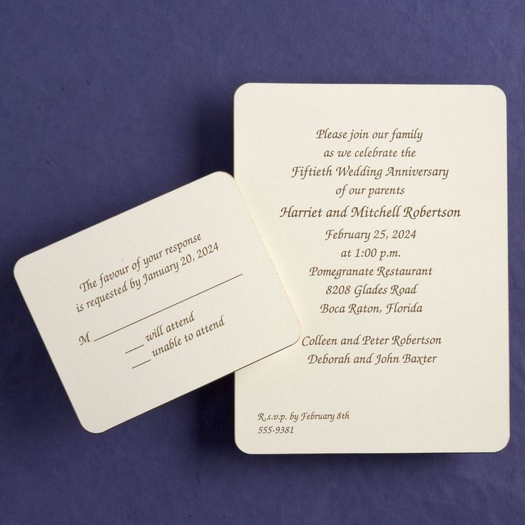 reply to wedding invitation m%0A LaTour Wedding Invitation from Embossed Graphics is trimmed in gold around  the edge  Great simple