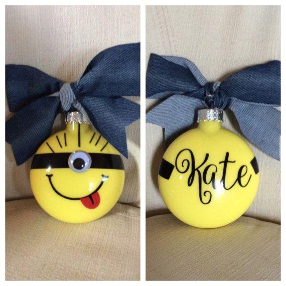 Personalized Minion Ornament by JudysJewelsandMore on Etsy