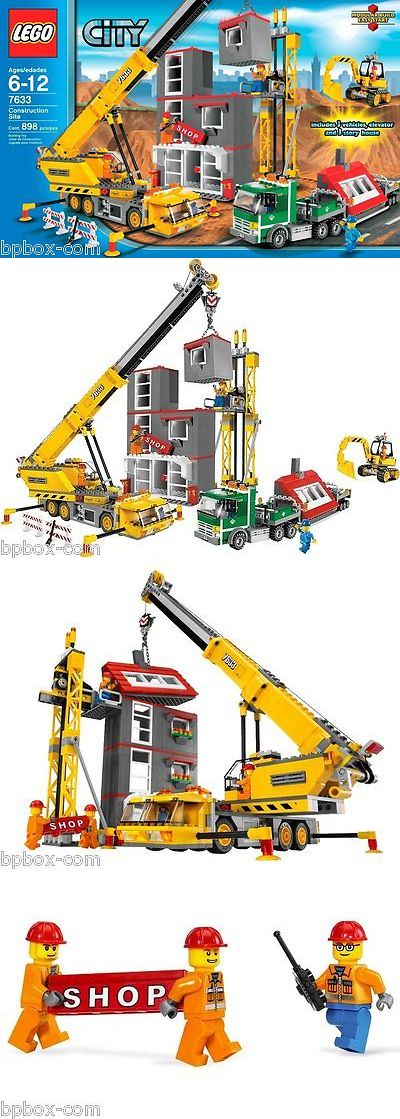 LEGO Complete Sets and Packs 19006: Lego 7633 Town City Construction Site,Crane Excavator Truck New Sealed Retired -> BUY IT NOW ONLY: $394 on eBay!