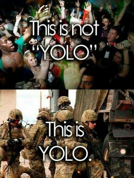 But seriously. YOLO doesn't mean free pass to party it up. It means you only live once so make the most of the ONE life you have. #makeitcount