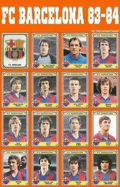 Old School Panini, FC BARCELONA 1983-84