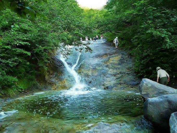 カムイワッカ湯の滝 北海道