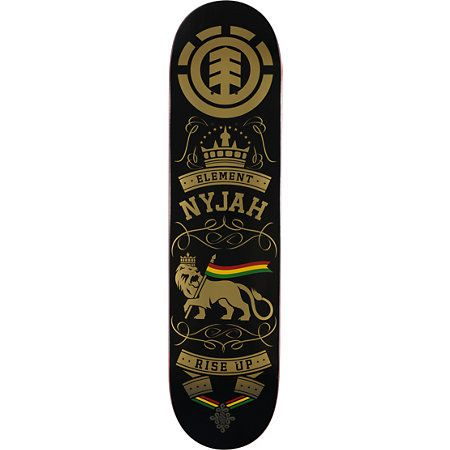 The Nyjah Huston 8.0 skateboard deck from Element Skateboards. Ride the same deck as Element super pro skater Nyjah Huston with the Rise Up deck featruing the featherlight construction and a great shape for riding your local park, street, or favorite skat