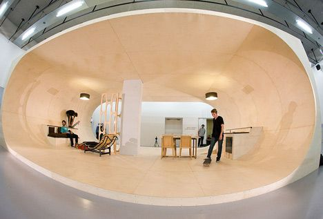 The PAS House by Francois Perrin and Gil Lebon Delapointe: Interior Design, Dream House, Architecture, Gil Lebon, Space, Skateboard House